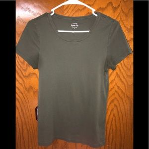 J. Crew Perfect Fit Tee Sz Large In Olive Green
